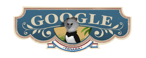 Google Logo Doodle Panama Independence Day - (Panama)